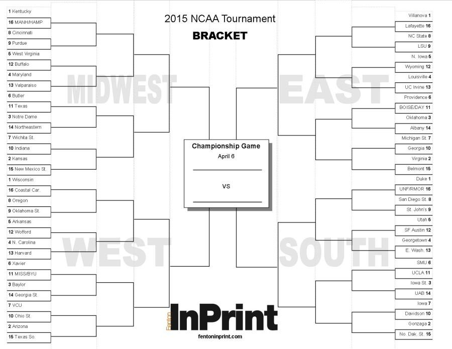 Get your March Madness Bracket Here! (Printable)