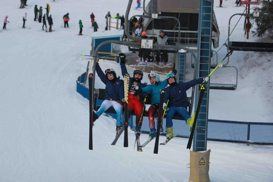 The Fenton/Linden ski team competes in first meet of the season