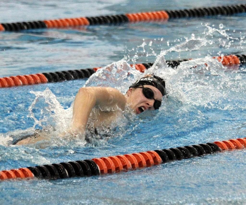 Haarajoa swims the 50 freestyle at the Fenton vs Brandon meet at Fenton on October 24.