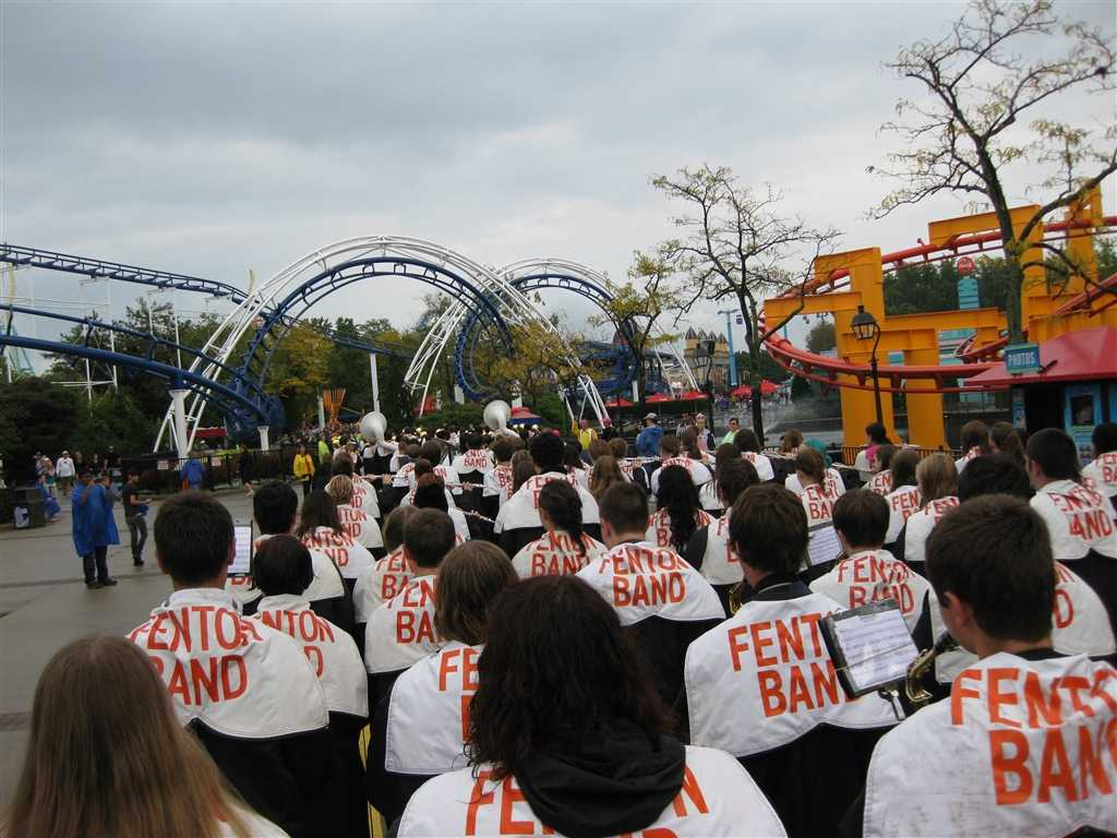The Marching Tigers preform Michael Jackson's 'Thriller' at Cedar Point in the Halloweekends Parade