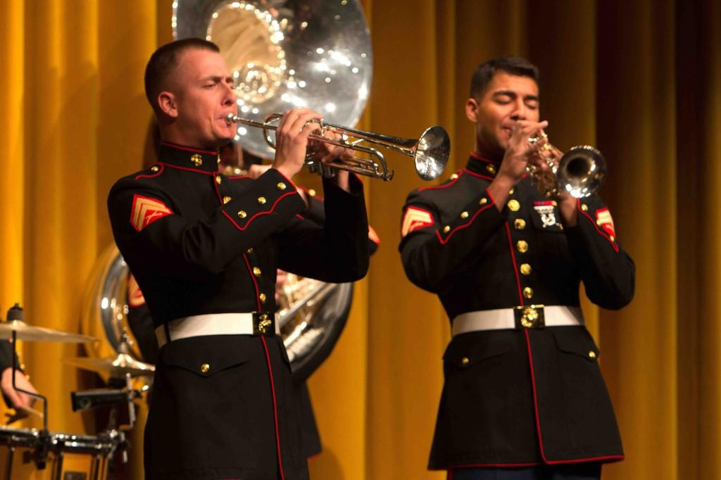 Marine Core Party Band preforms for Fenton High band members.
