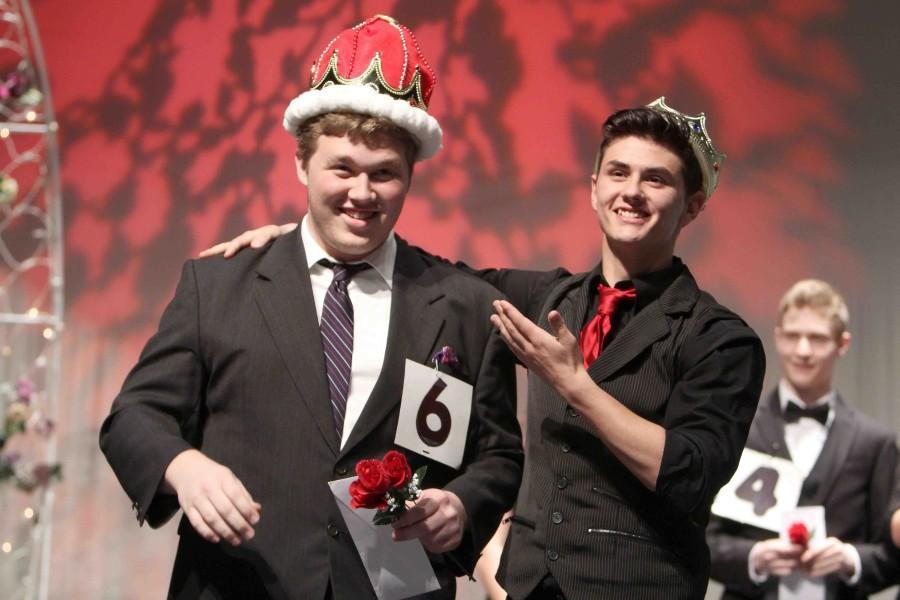 Last week, senior Jacob Lang was crowned Mr. Fenton by last year's winner, junior Cord Alvarado.