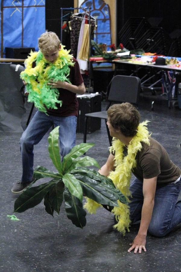 Drama students complete their final exam early. Each student had to put on a skit, either with other people or by themselves, and perform for the class.