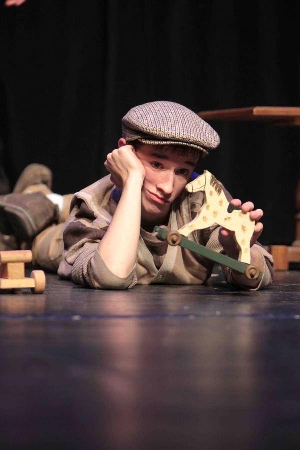 Senior Colin Hodgkins plays the role of Charlie in the all school play Charlie and the Chocolate Factory in the Ruby Zima Auditorium.