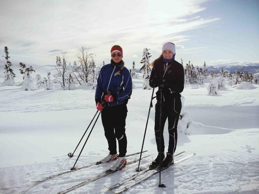 "Foreign exchange student senior Celina Oddenes skis with a friend in on Mount Norefjell in Norway. ""My friend has a cabin up there so I usually go with her once or twice a year,"" Oddenes said. ""I like to do cross country skiing because it's a great exercise, and slalom skiing is fast."""