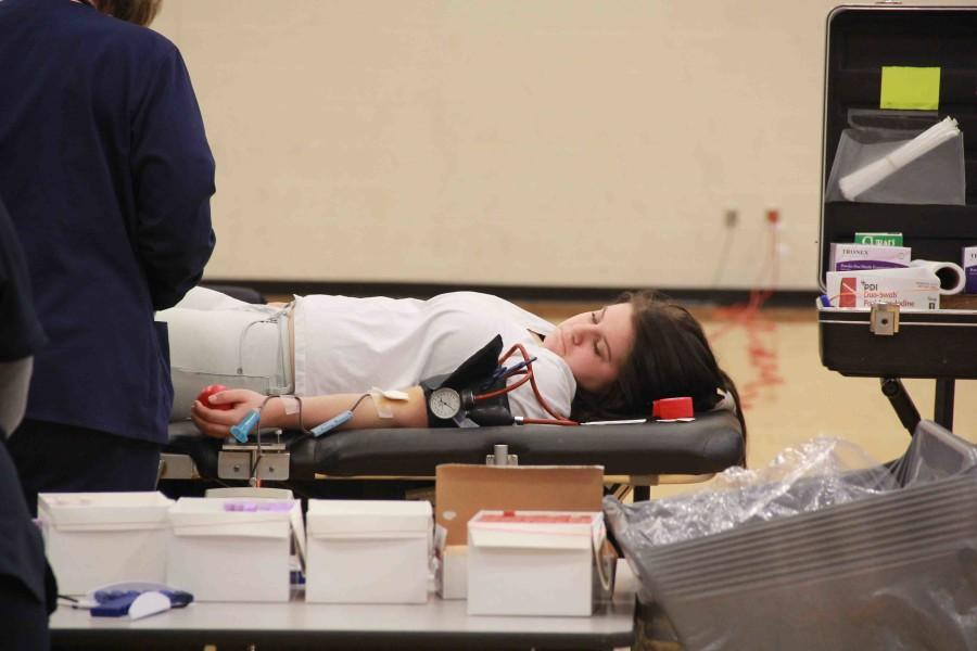 Donors at Red Cross Blood Drives donate one gallon of blood