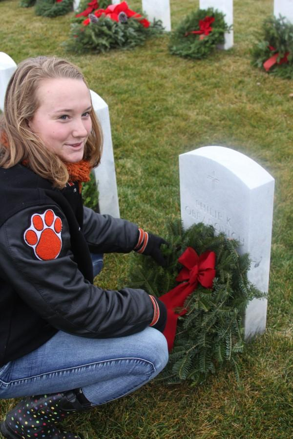 On Dec. 12, Captain's Club and members of the varsity football team met at Great Lakes National Cemetery.