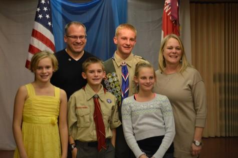 Noah Maier earns the rank of Eagle Scout as freshman