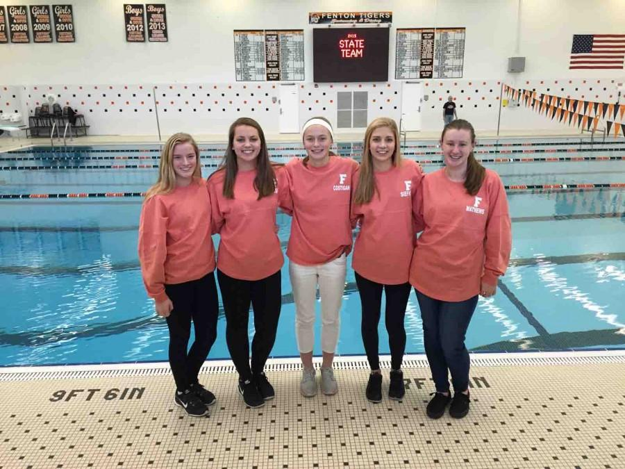 Girl swimmers and diver place at state finals