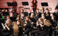 Fenton Bands preform together to raise money for new marching band uniforms