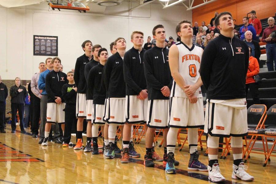 Varsity boys basketball wins against Flint Kearsley