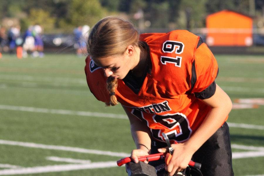 Female football players work to defy expectations from opponents