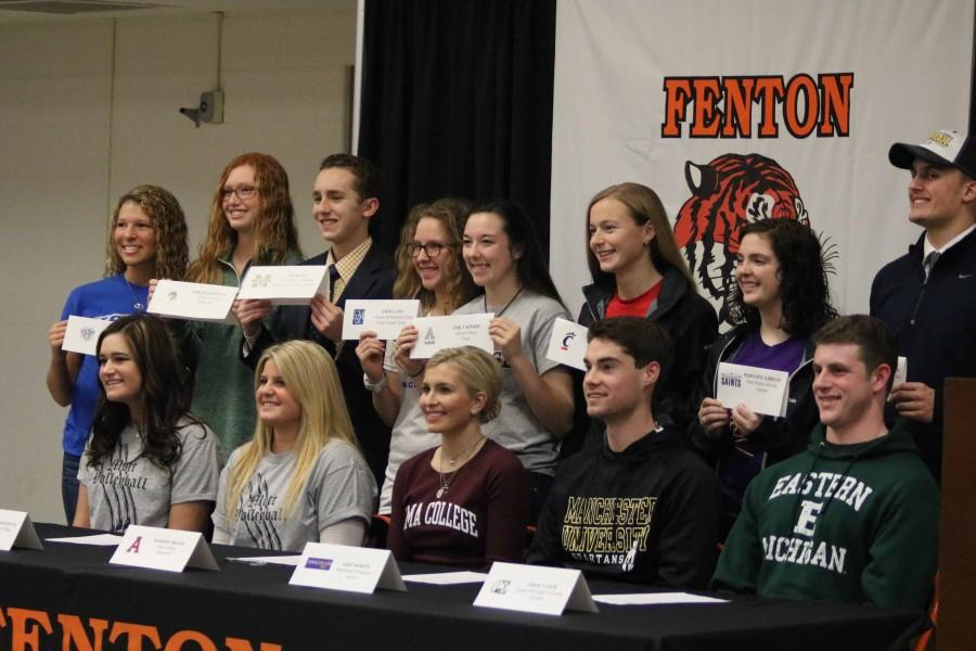 Congratulations to all of the student athletes who are able to continue the sports of their choice after high school.