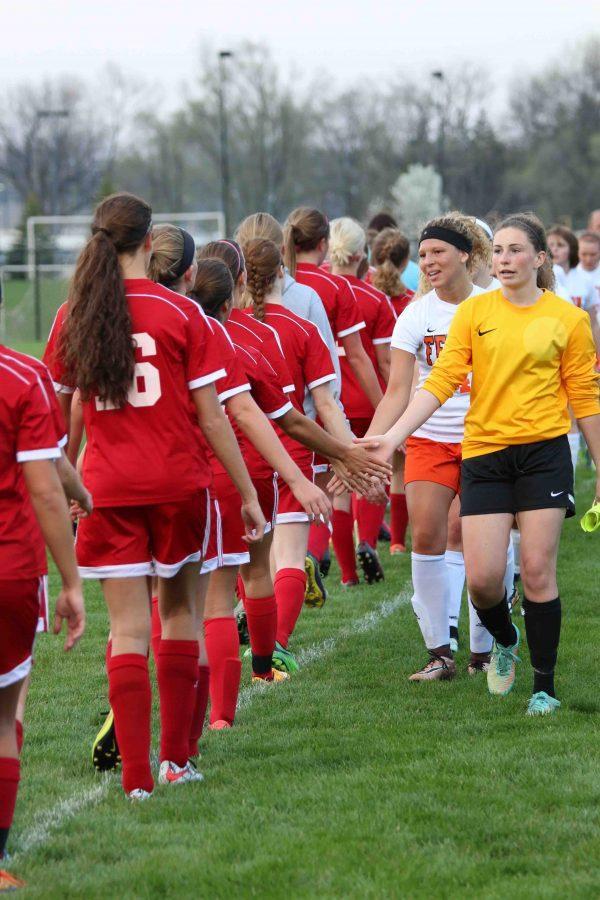 Girls varsity soccer wins against Swartz Creek