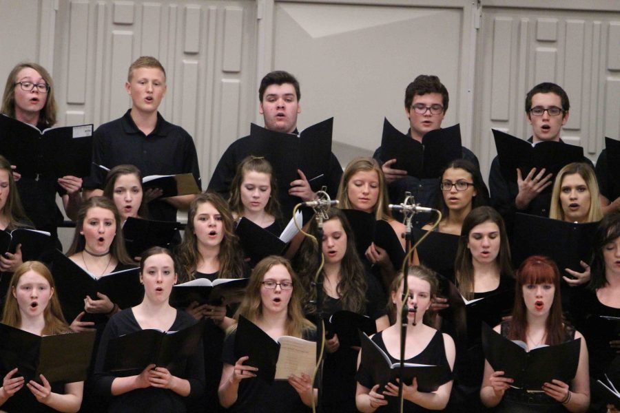 Yesterday at the choir concert, the choirs sang a variety of songs, one of them was Lights by Journey.