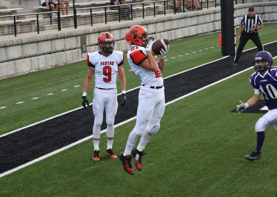 Junior WR Josh Maher scores a toe-tapping touchdown and takes the Tigers to an early 7-0 lead.