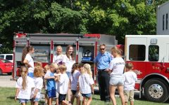 Key Club members teach kids at Safety Town