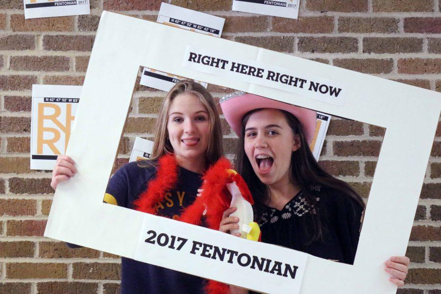 During last week's sale for yearbook, Fentonian staff members created a 'photo-shoot' for people in lunches.