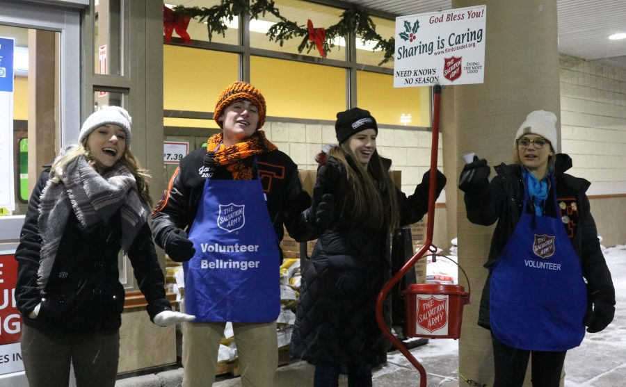 NHS raises money for the Salvation Army with bell ringing event