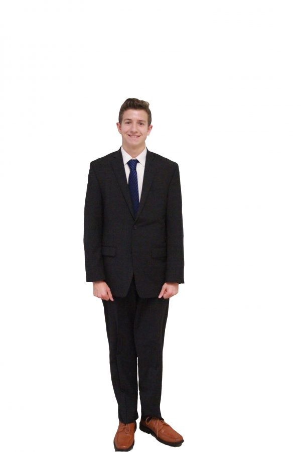 Jacob Taylor demonstrates the attire needed to impress business owners at an interview.