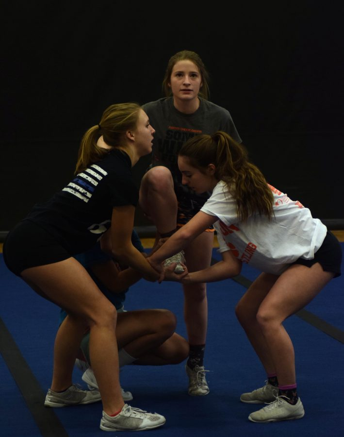 Competitive cheer squad prepares for their first meet on Jan. 7