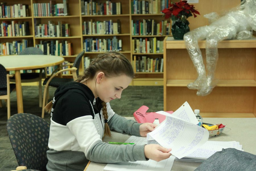 Freshman Heather Wooten uses the after school tutoring to keep her grades up, and preparing for her exams next week. AST is available Mondays through Thursdays from 2:30 until  3:25 with a completed permission slip on file. Bus transportation will be available for students living within the Fenton Schools attendance boundary. Contact Mrs. Averill at saverill@fentonschools.org or the Counseling Office for a permission slip.