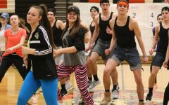 Dance team performs at the winter pep assembly
