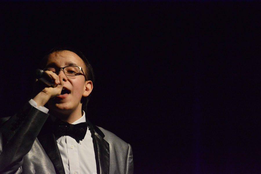 During the ambassadors concert on Friday, Feb. 24, junior Joe Amberg has a solo.