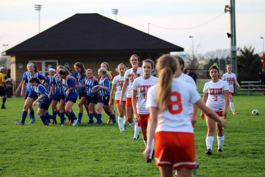 On Monday, April 24, the girls varsity soccer team lost their first game of the Metro League to Brandon, 1-0.