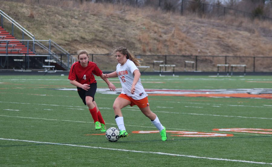 On March 29, the JV Girls Soccer team face Linden High. The Fenton girls tied with Linden 0-0.