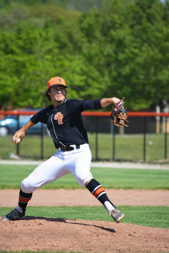 On Monday night's game, sophomore Logan Welch one of the teams players pitched during that nights game. The jv boys baseball team played two games against Linden winning both with the scores of 6-3 and 3-0.