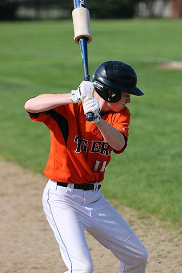 V baseball vs Holly