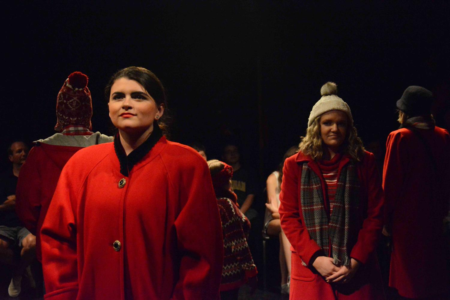 During the performance of Almost Maine, senior Jenna Mazurak performs alongside the rest of IB theater in their final showcase of the year. The theater class involved incoming IB theater students in this production as a way for them to have some experience for next year.