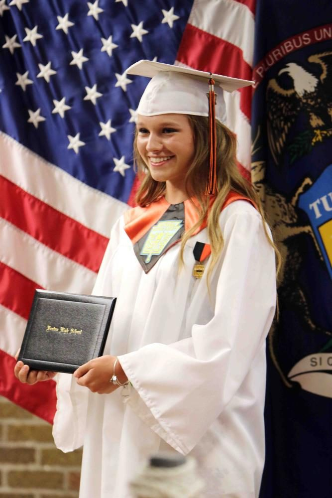 senior Tess DeGayner accepted her diploma this past Sunday at Fenton High school's graduation. Tess will be attending Central Michigan next year hoping to advance her education.