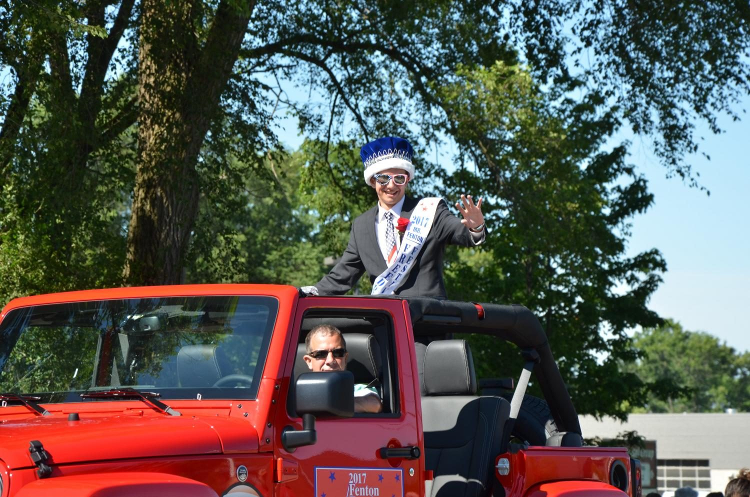 Senior Jake Taylor riding in the 2017 4th of July parade. Jake was awarded the 2017 freedom festival king.