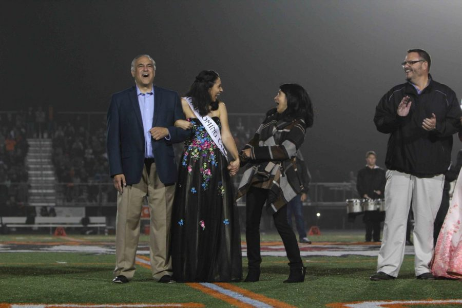 Ari Mansour is announced as 2017 Homecoming Queen. The school voted from five different candidates.