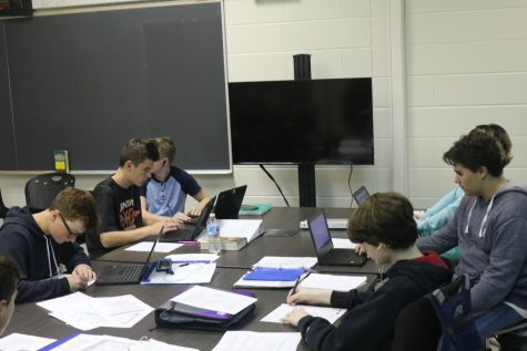 History teacher Matthew Place gets a new classroom design with new computers
