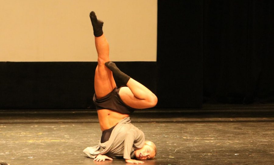 Senior Kasey Caswell preformed a self choreographed dance at the talent show on Oct 12.  Caswell was announced as the winner of the talent show.