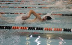 Varsity boys swim competes in county's to qualify for MISCA's