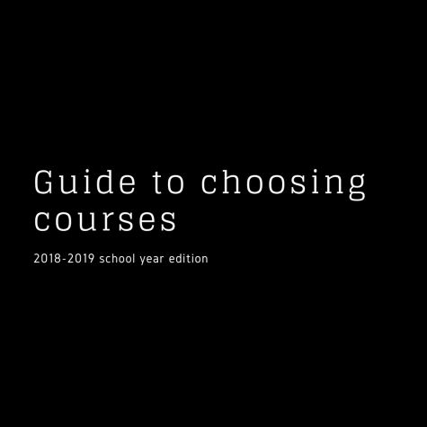 Guide to choosing courses
