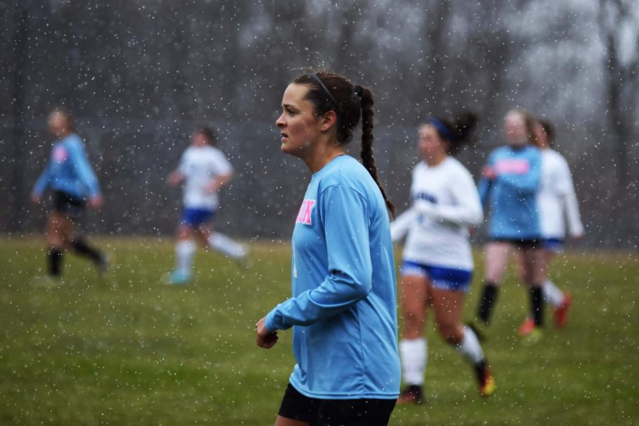 The girls varsity soccer team played against Brandon at last Fridays away game. The girls won with a final score of 3-0, while playing in the horrid weather conditions.
