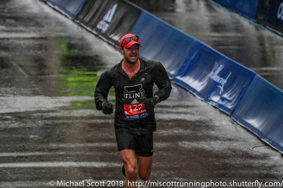 This is Jesse Anderson's second time running in the Boston Marathon however it was his first time finishing.
