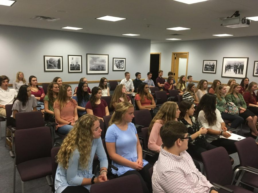 AMS students participate in a simulation about the 1967 Detroit Riots