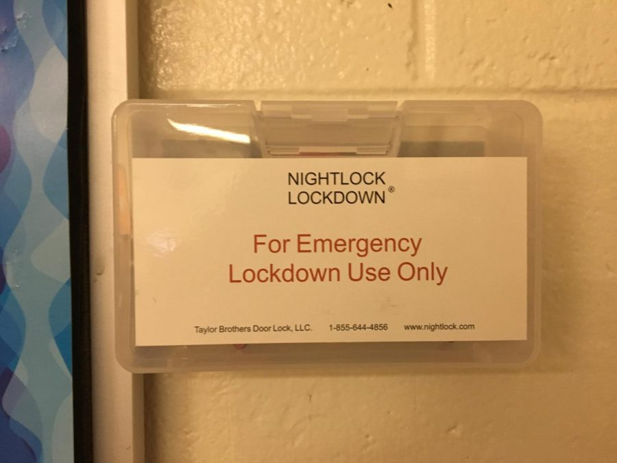 Next to every door in the school, a box attached to the wall contains the red Nightlock piece.