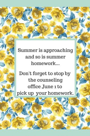Students can start looking out for summer homework
