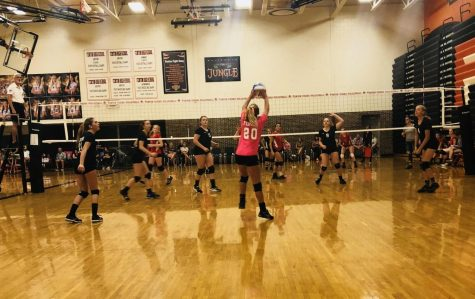 The freshman and JV volleyball teams serve their way to victory at recent tournament