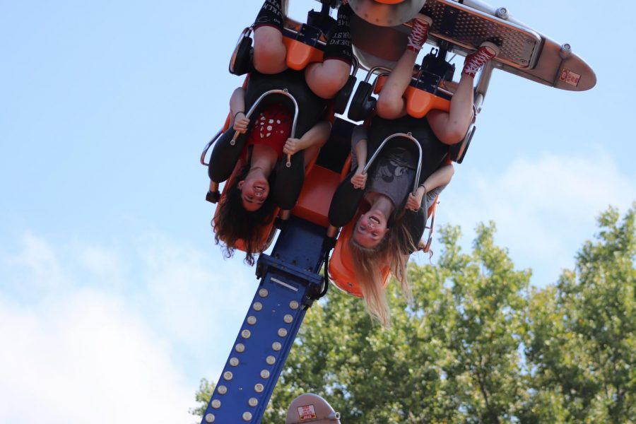 The sound of screaming at apple fest, freshman Dot Khoury was on the plains. She was getting flung around up side down.