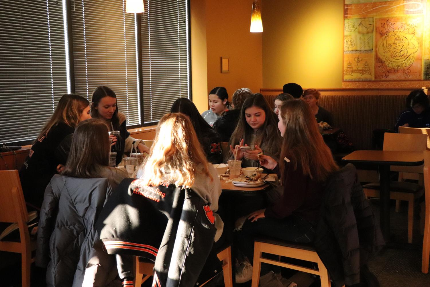Sophomores begin studying for their exams on Jan. 14. FHS Publications held their annual Panera fundraiser on the first day of exam week.