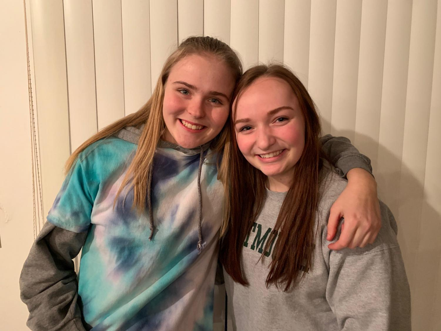"""We both joined the tennis team freshman year. We were skeptical to join at first but it ended up being so much fun. It's now our favorite sports season. Our team works so good together and have created a lot of chemistry over the years."""