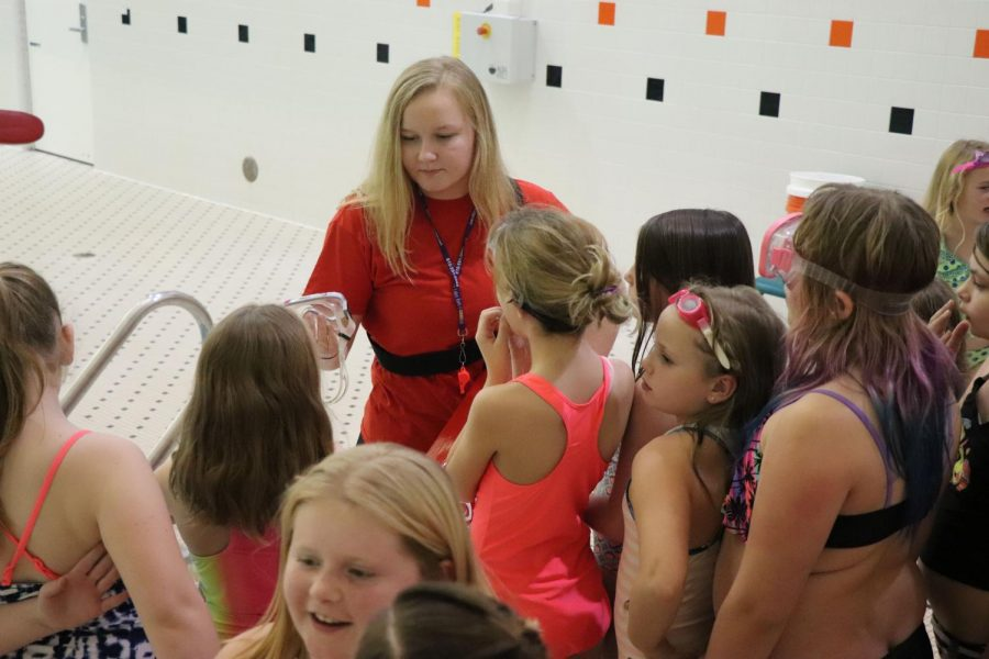 Every year the Fenton Linden Hockey team puts together a Lock-in. This year sophomore Catherine Haynes watched the elementary students as they swam in Fenton Highs pool.